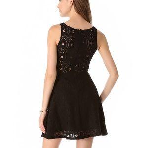 BB DAKOTA Black Renley Crochet Lace Dress